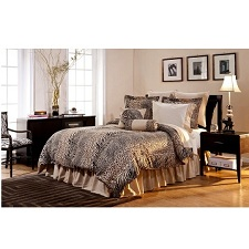 Pointehaven 12-Piece 100-Percent Cotton Luxury Animal Print Bedding
