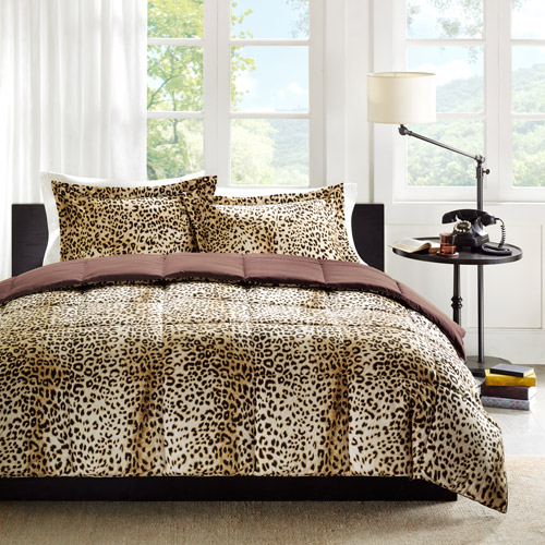 Home Essence Cheetah/Occelot Print Down Alternative Bedding Comforter Mini Set