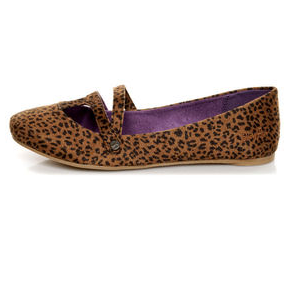 Black and Rust Baby Cheetah Print Ballet Flats