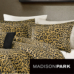 Madison Park Leopard Print 4-Piece Duvet Cover Set