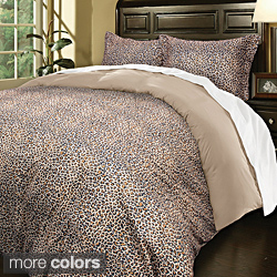 Super Soft Cheetah Print Microfiber 3-piece Duvet Cover Set