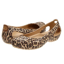 Crocs Leopard Print Flat Shoes