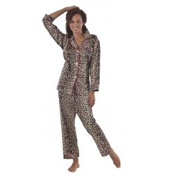 BedHead Wild Things Leopard Print Flannel Pajama