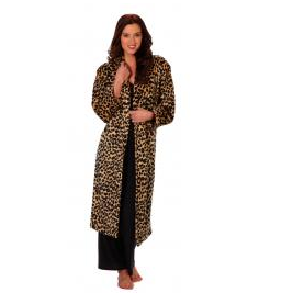 Softies Sheer Mink Leopard Robe