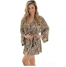 Animal Print Robe Wrap Leopard Print Sleepwear