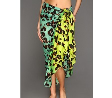 Steve Madden Oversized Ombre Leopard Print Pareo