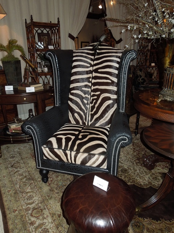 Zebra wing chair henry link