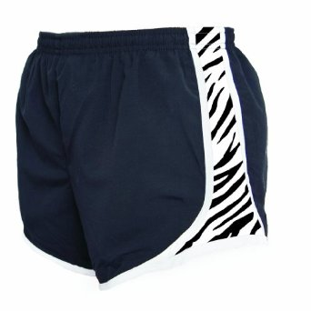 Boxercraft Black with Zebra Print Velocity Women's Shorts
