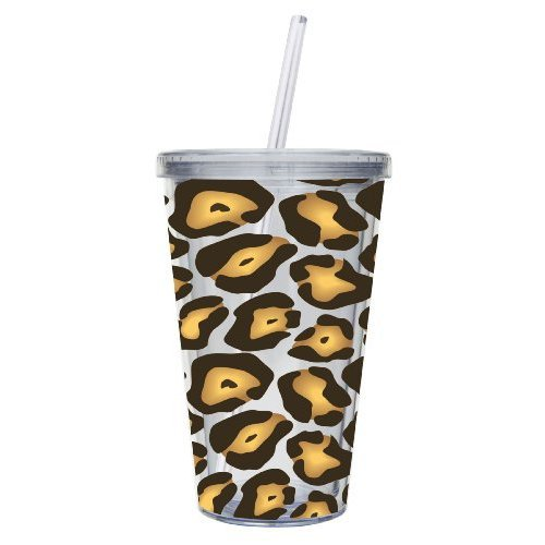 Cypress Home 17-Ounce Insulated Leopard Printed Cup