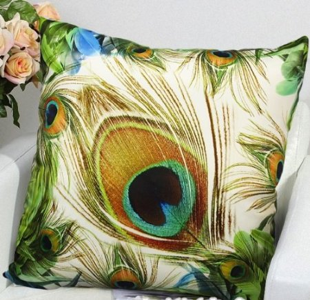 Peacock Elegant Decorative Throw Pillow Cover