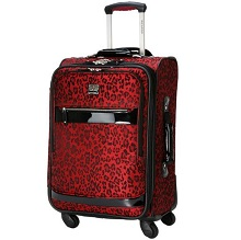 Ricardo Beverly Hills 20″ Spinner Carry On Luggage Ruby Leopard
