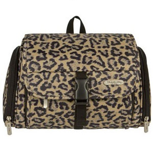 Travelon Leopard Quilted Hanging Toiletry Kit