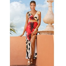 Goil Foil Animal Print Maxi Dress