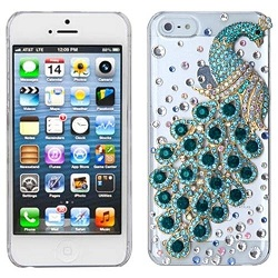 BasAcc Turquoise Peacock Crystal Case for Apple iPhone 5