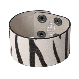 Zebra Animal Print Women's Snap Bracelet
