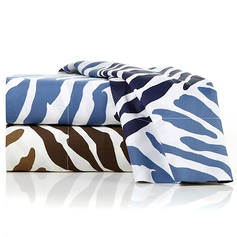 Alexa Hampton Home Zebra Animal Print 100% Cotton Sheet Set