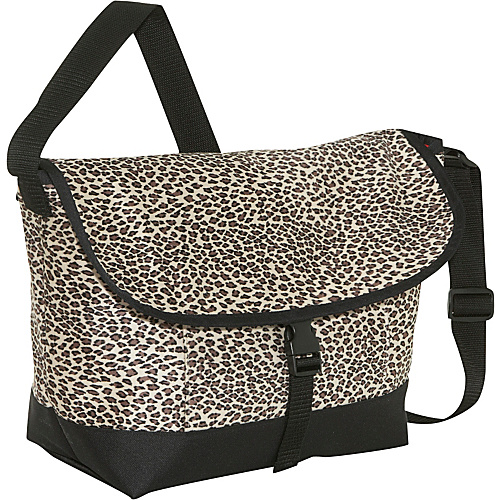 Sally Spicer Cheetah Print Baby Messenger Bag