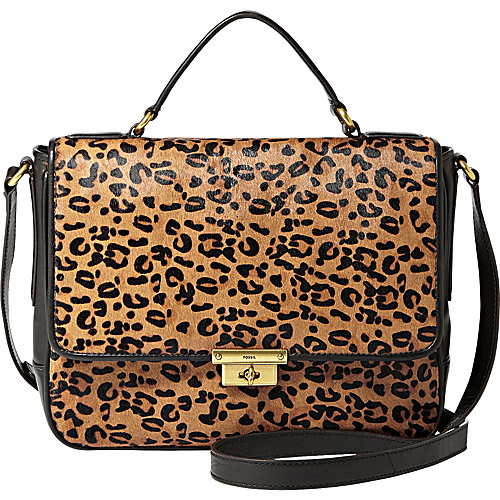 Fossil Cheetah Print Hair Calf Shoulder Bag