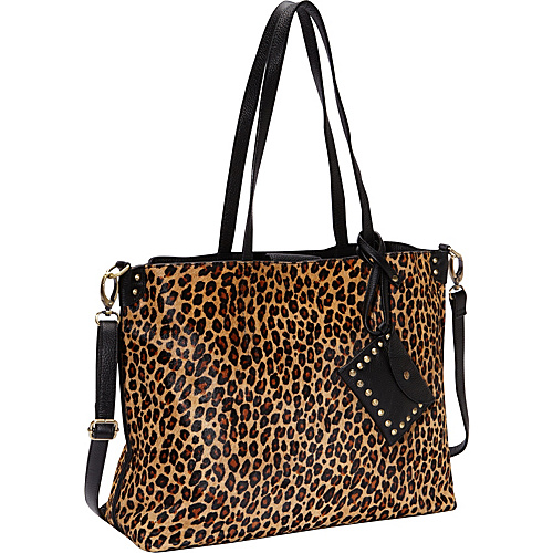 Lucky Brand Cheetah Leather Tote Handbag