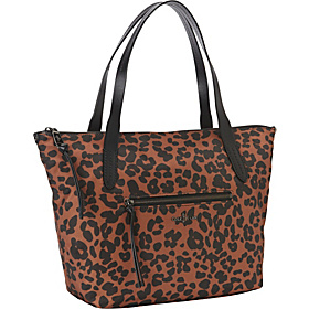 Cole Haan Nylon Leopard Haircalf Print Shopper Tote