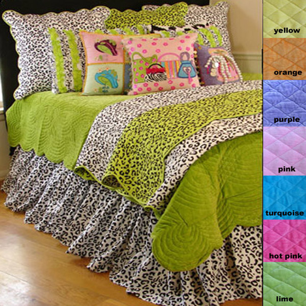Fancy Girls Colorful Leopard Quilt Collection