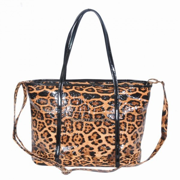 Must Love Leopard Tote Bag Bronze