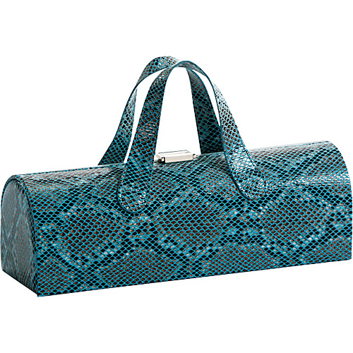Picnic Plus Clutch Wine Bottle Tote Blue Snake