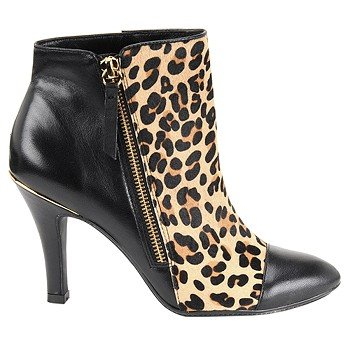Sofft Women's Leopard/ Black Dress Booties