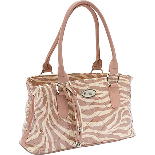 Donna Sharp Reese Zebra Print Tan Bag