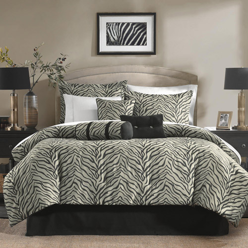 Zebra 7-Piece Jacquard Bedding Comforter Set