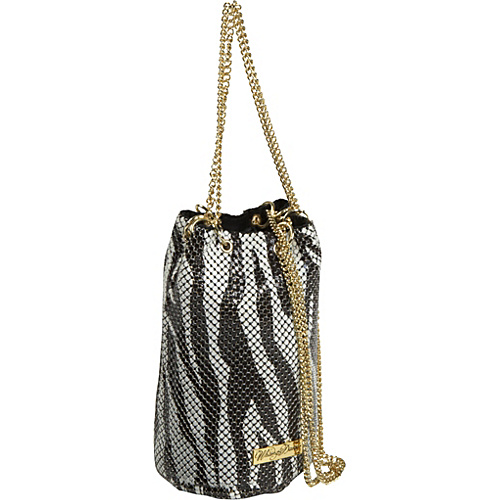 Whiting and Davis Zebra Mesh Mini Drawstring Pouch – Cross Body