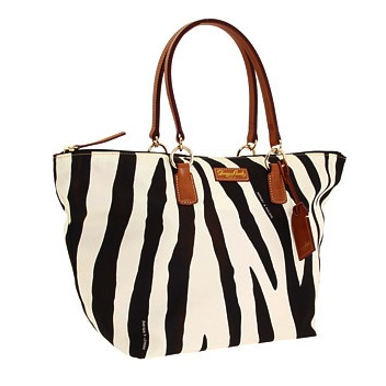 Dooney & Bourke – Zebra Print Nylon Large Shopper Bag