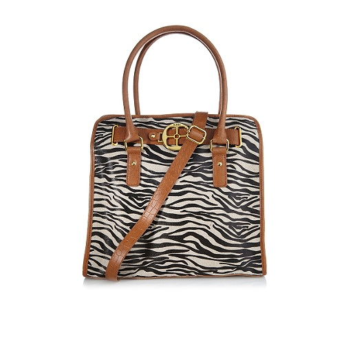 IMAN Global Chic Zebra Animal-Print Couture Tote