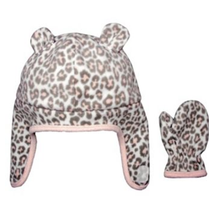 Carter's Baby Cheetah Fleece Hat and Mittens