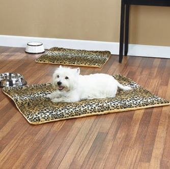 Leopard Animal PrintSelf-warming Animal Print Thermal Pet Bed