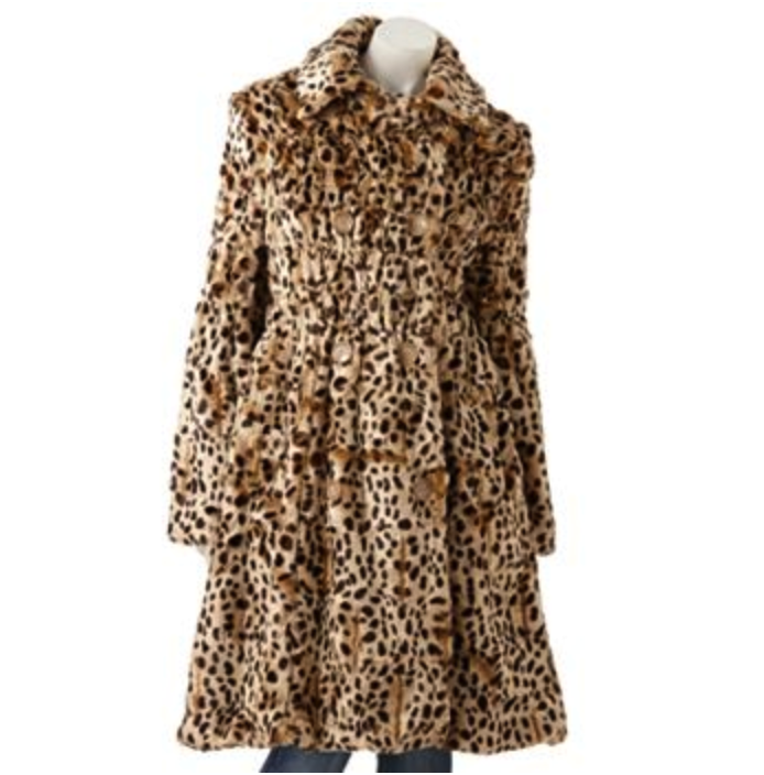 Cheetah Faux-Fur Coat