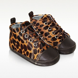 DOLCE & GABBANA Leopard Baby Shoes