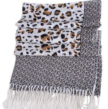 Leopard Print Glam Urban Jungle Scarf