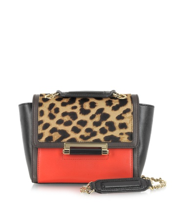 Mini Leopard Print Haircalf Shoulder Bag