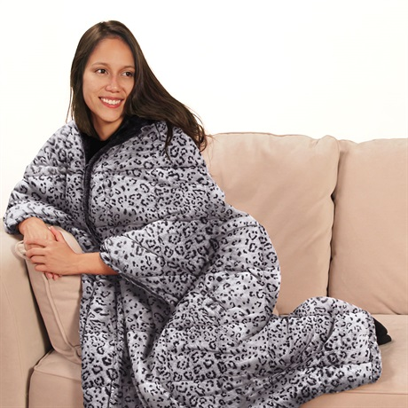 Premier Comfort 3-in-1 Microfiber Snow Leopard Throw