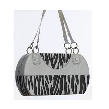 Fashion Zebra Animal Print Handbag Purse Christmas Ornament