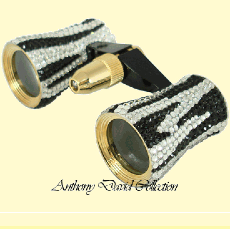 Anthony David® Theater Binoculars with Swarovski Crystal – Zebra