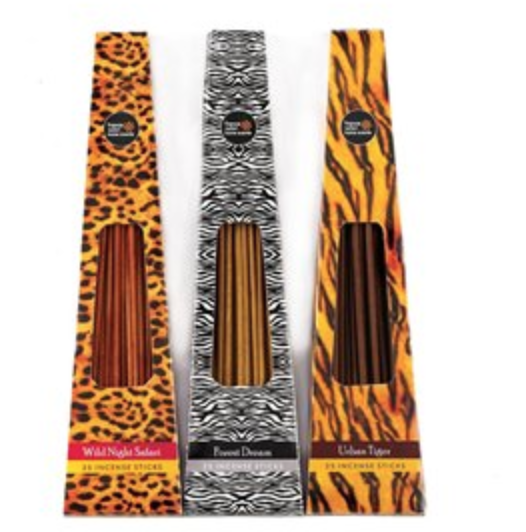 Animal Print Incense Set of 3