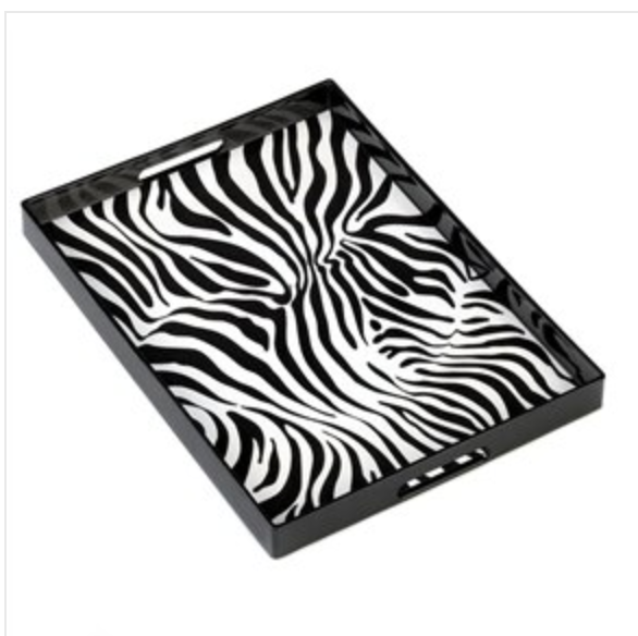 Zebra Print Serving Tray