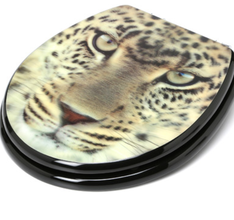 Topseat 3D Series Leopard Head Round Toilet Seat