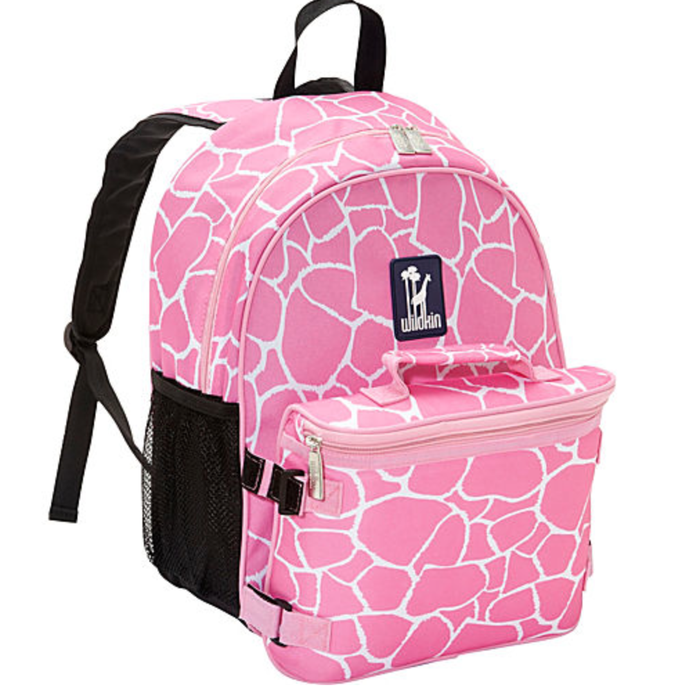 Wildkin Pink Giraffe Bogo Backpack w/ Lunch Bag