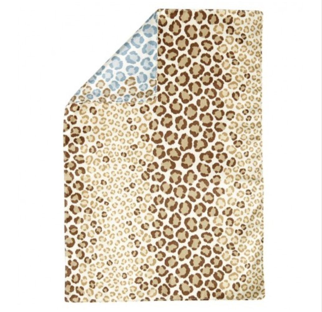 Vietri Brown and Blue Leopard Placemat