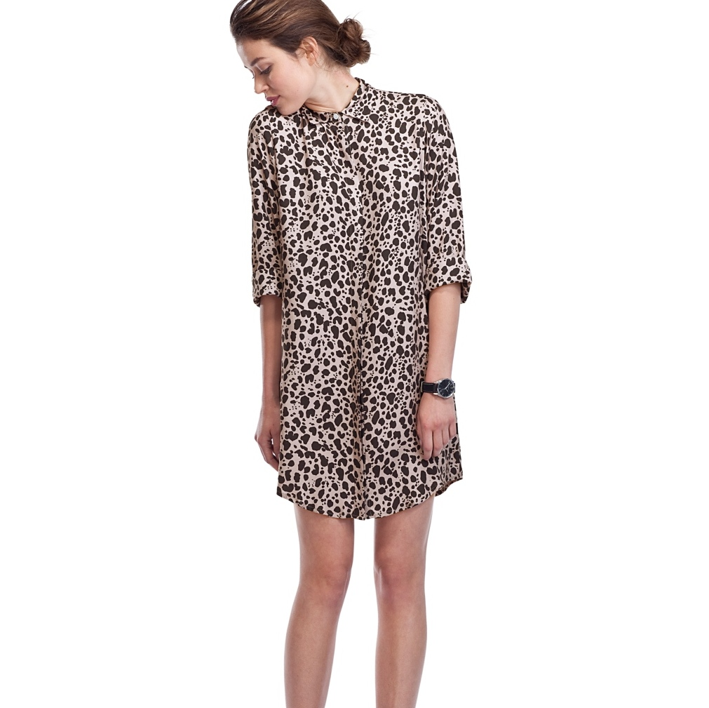 Cheetah Animal Print Shirt Dress