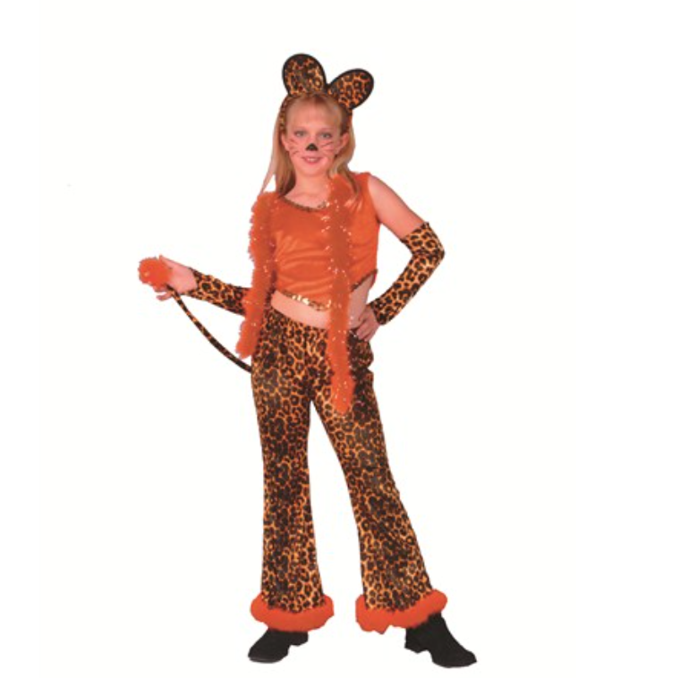 child leopard rock star girl halloween costume