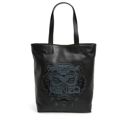 KENZO 'Tiger' Leather Tote
